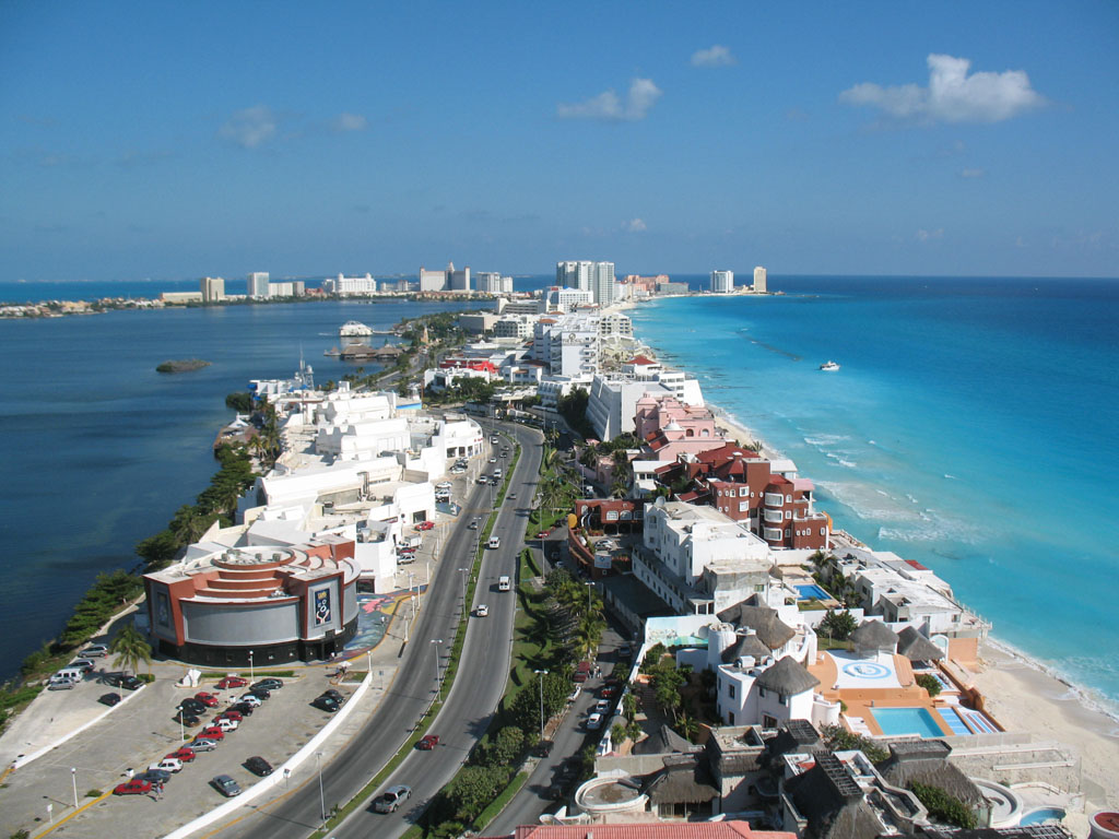 View of Cancun from Top of Beach Palace